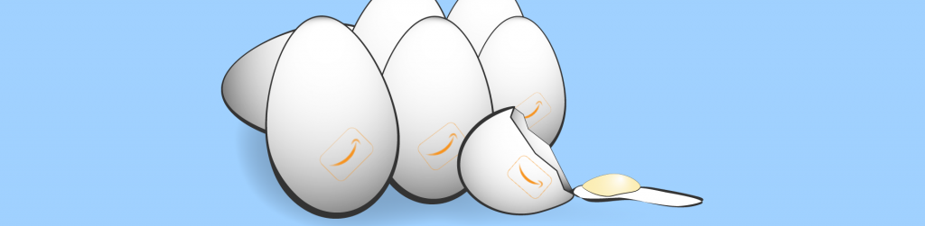 Eggs with Amazon logo illustration cash streams